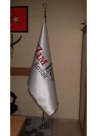 Özel Logolu Telalı Makam Bayrağı (Saçaklı)