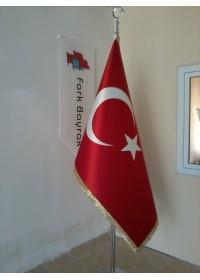 Türk Telalı Makam Bayrağı (Saçaklı)